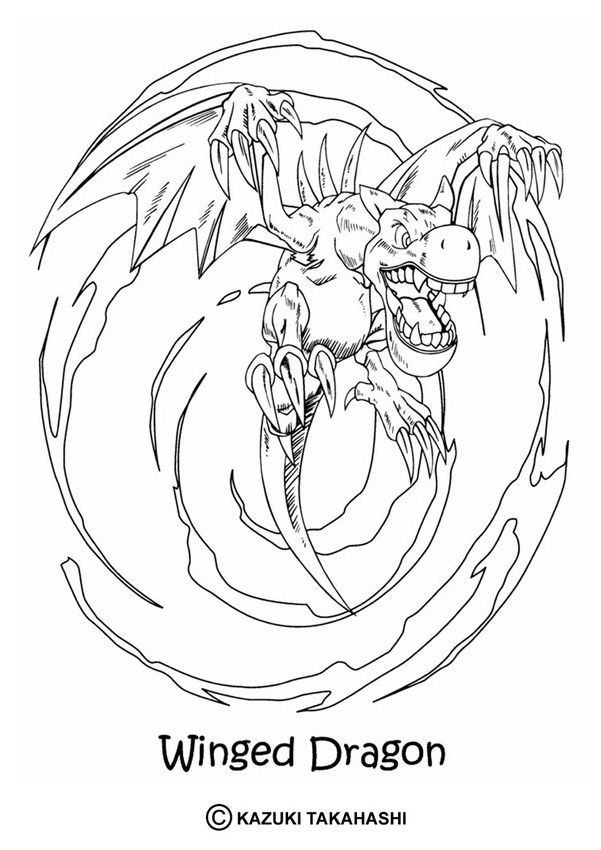 601x850 Yu Gi Oh Coloring Page! Enjoy Coloring The Winged Dragon Coloring