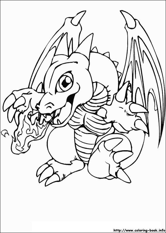 567x794 Yugioh Coloring Pages Yu Gi Oh White Dragon Gacrj