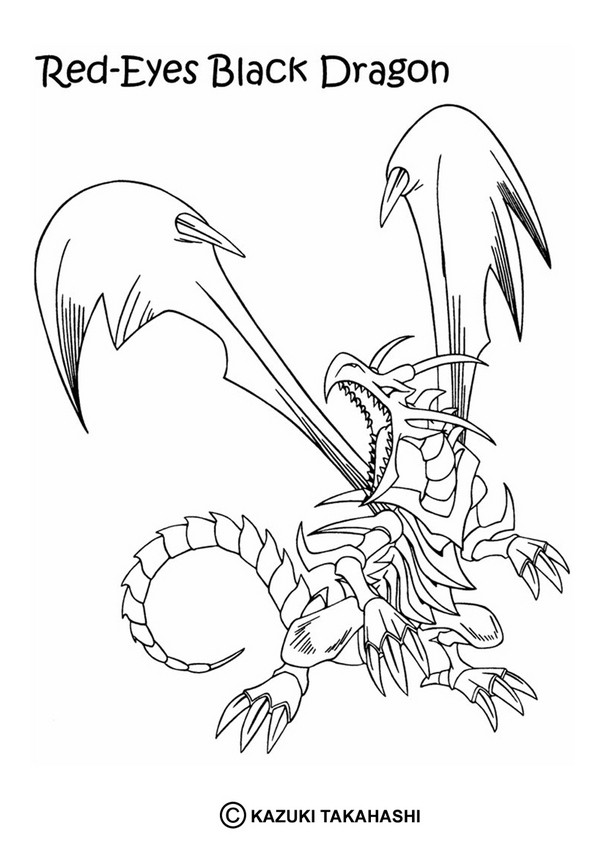 601x850 Black Dragon Coloring Pages