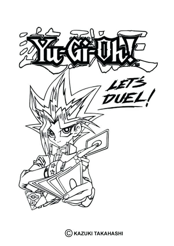601x850 Yugioh Coloring Page Free Printable Coloring Pages For Kids Yami