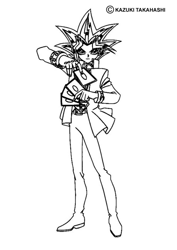601x850 Yugioh Coloring Pages Free Printable Yu Gi Oh Coloring Pages
