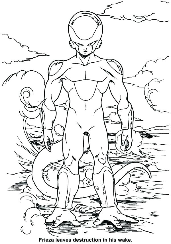 600x857 Dbz Color Pages Dragon Ball Z Coloring Pages Little In Dragon Ball