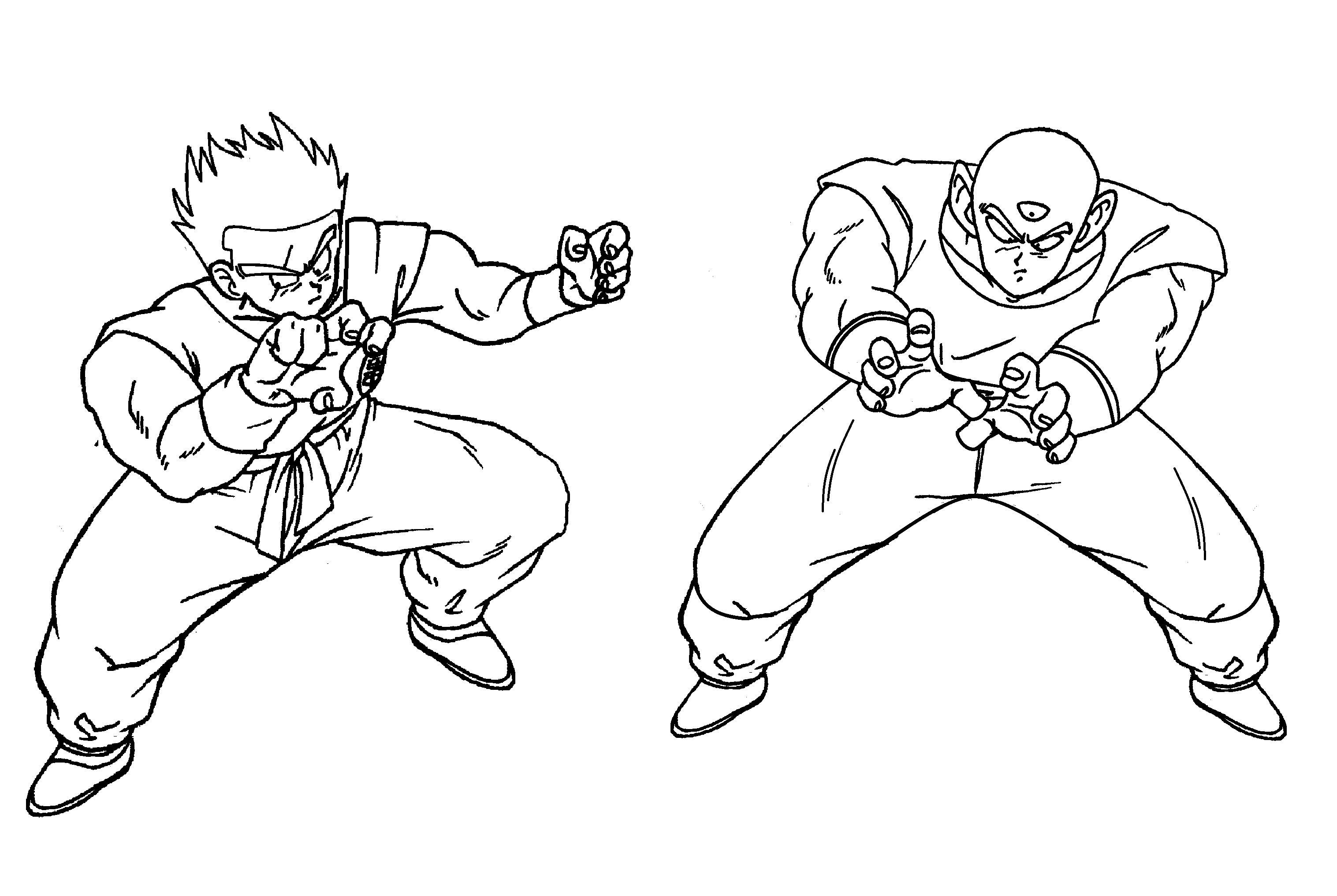 3033x2034 Dragon Ball Z Coloring Page Tv Series Coloring Page