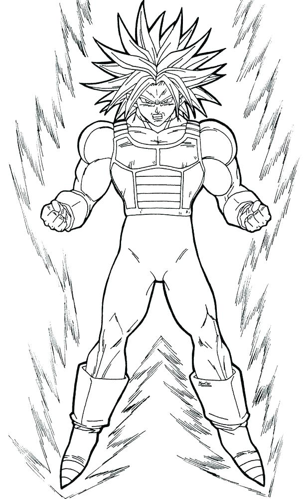 616x999 Dragon Ball Z Coloring Pages Goku