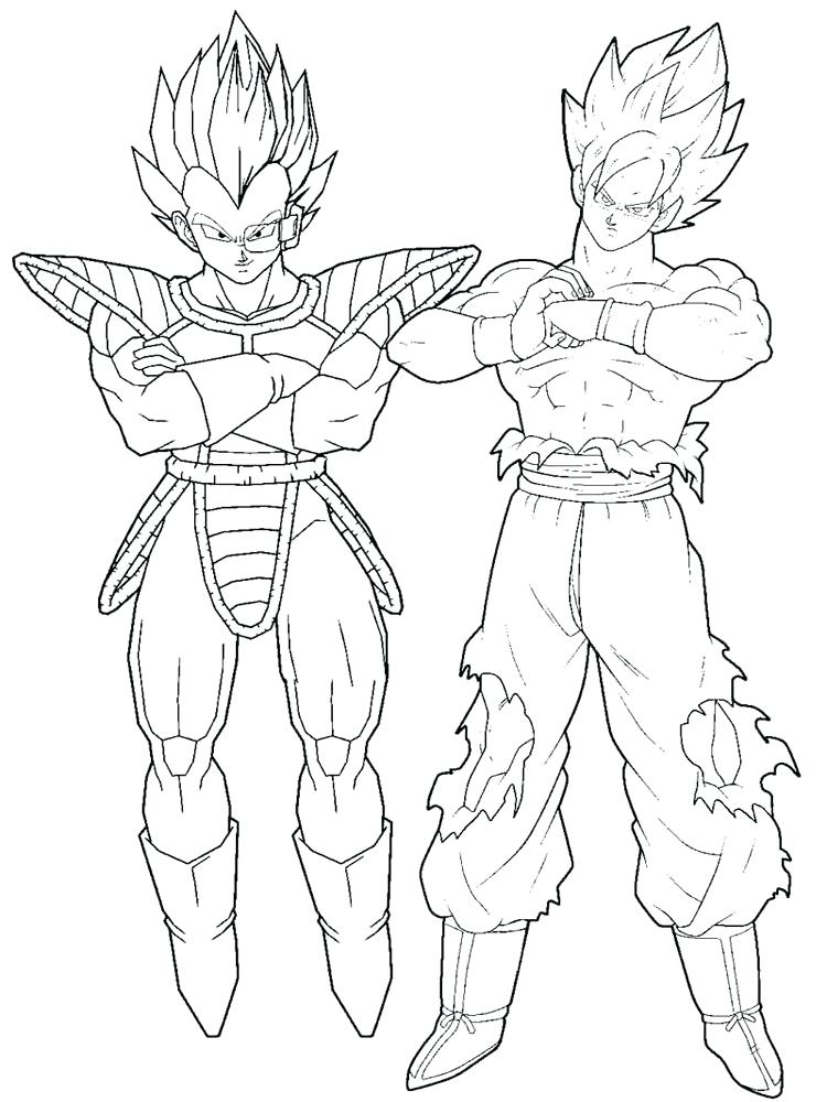 750x1000 Goku Coloring Page Coloring Pages For Boys Dragon Ball Z Coloring