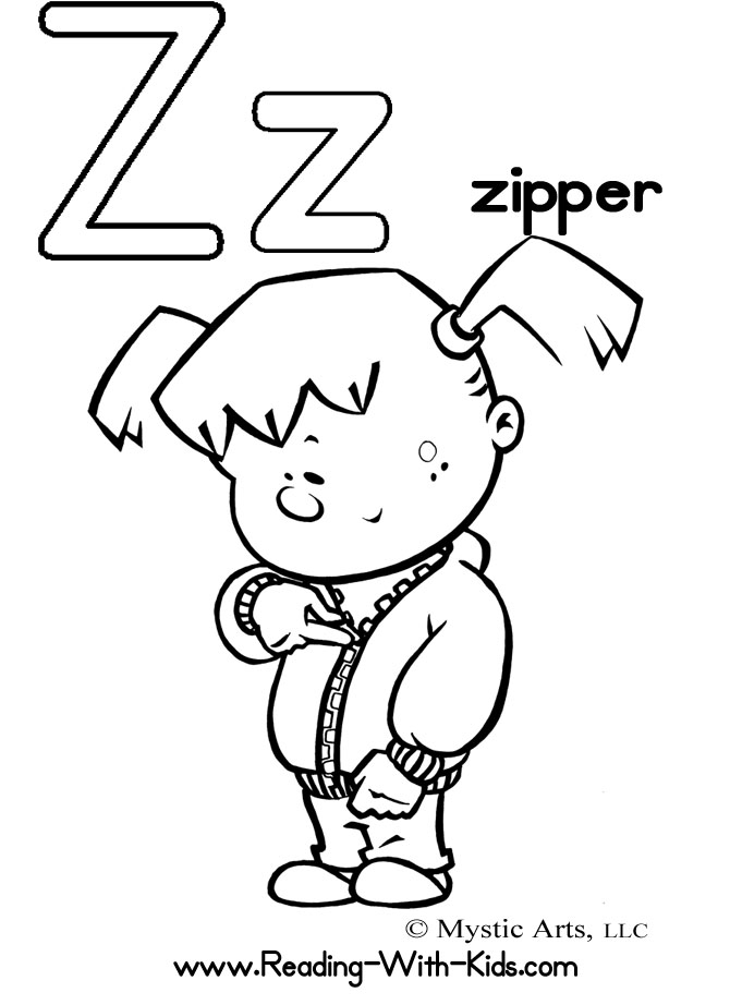 670x922 Letter Z Coloring Pages
