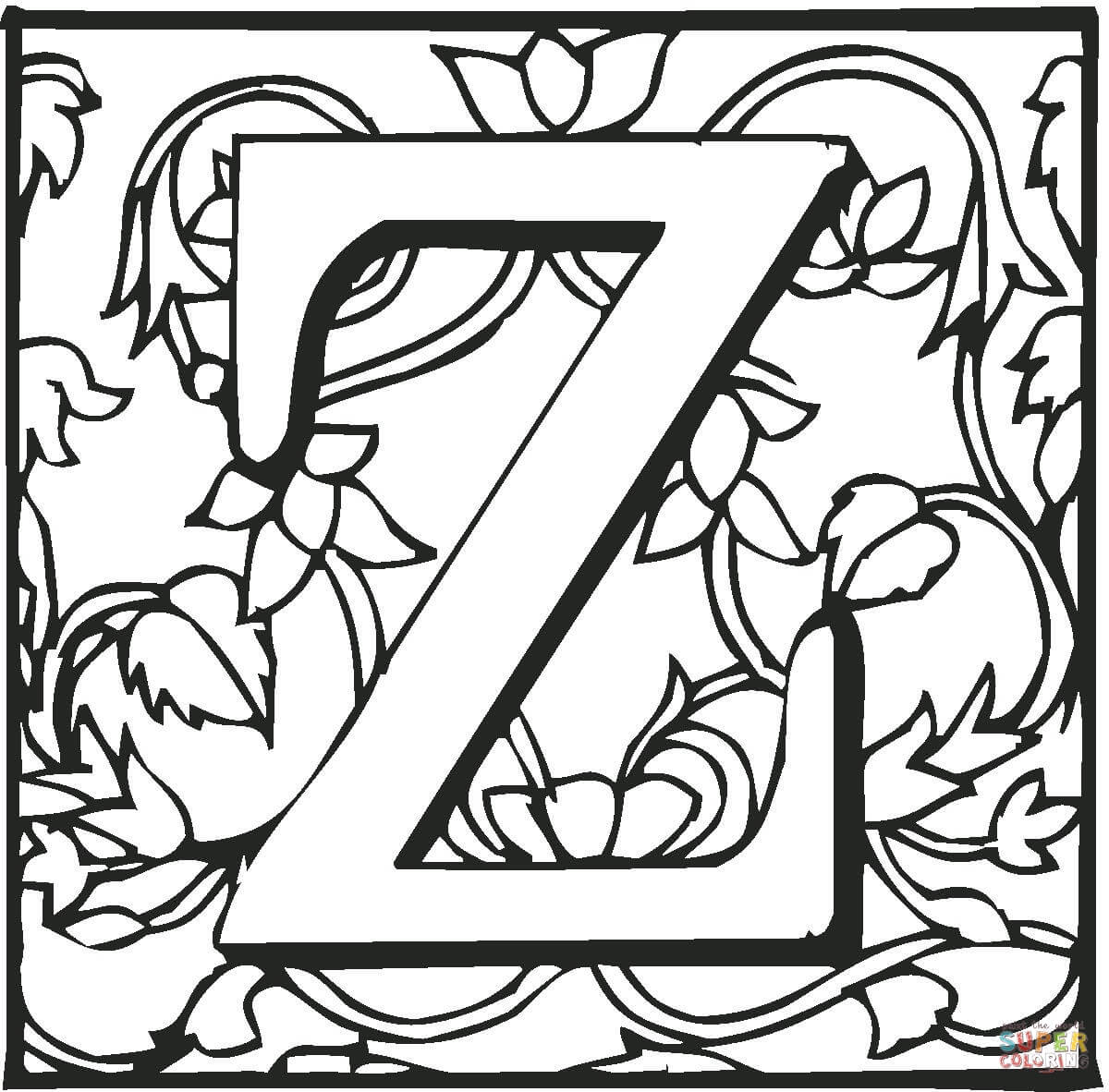 1200x1182 Now The Letter Z Coloring Pages Free