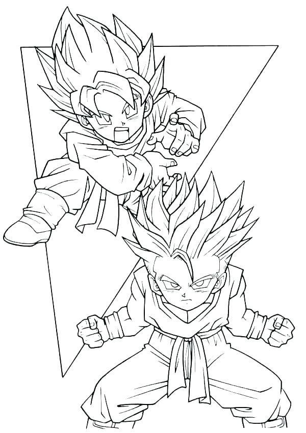 600x850 Super Saiyan Coloring Pages Dragon Ball Super Coloring Pages