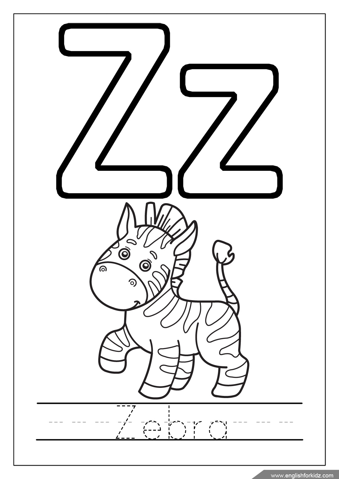 1100x1556 To Letter Z Coloring Pages