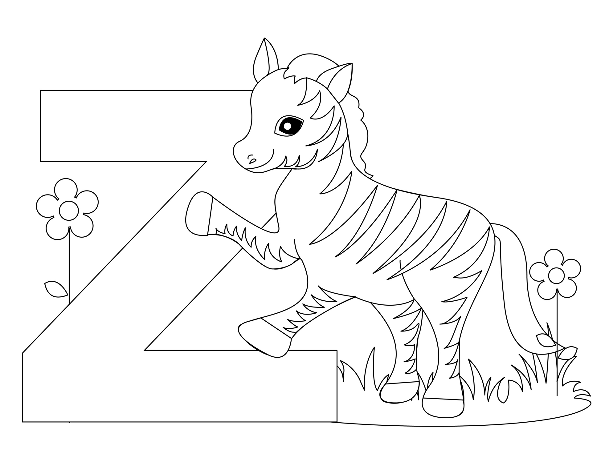 1963x1527 Wanted The Letter Z Coloring Pages On Coloring Pages