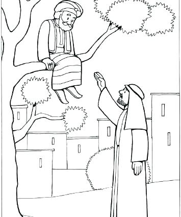 Zacchaeus Coloring Page at GetDrawings | Free download