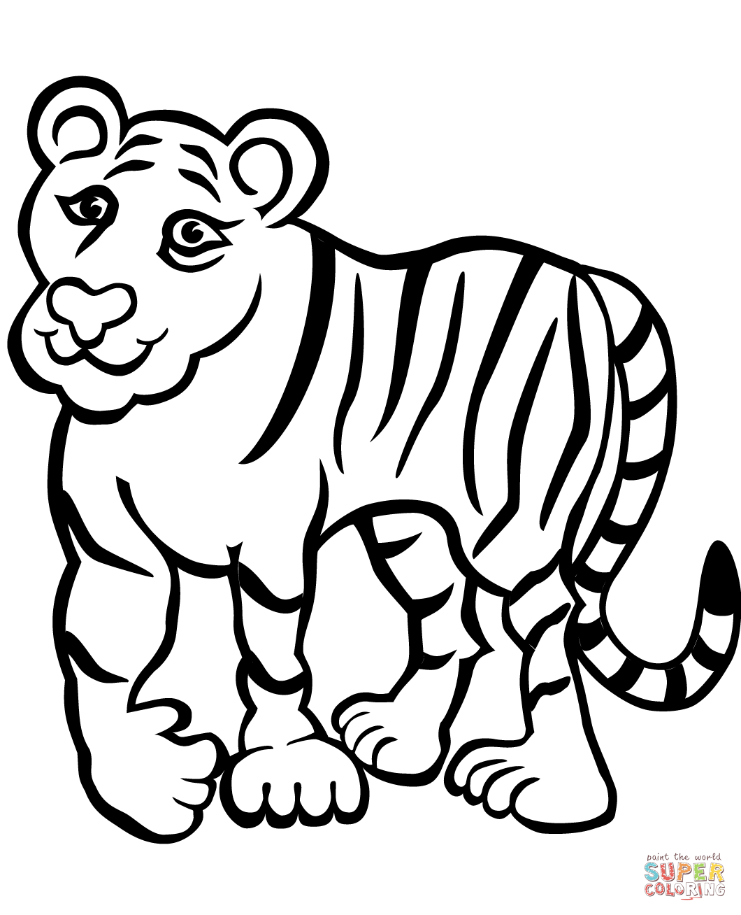 1060x1308 Growth Pics To Color In Exciting Tiger Pictures Free Printable