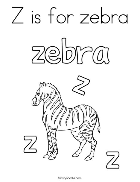 468x605 Z Is For Zebra Coloring Page