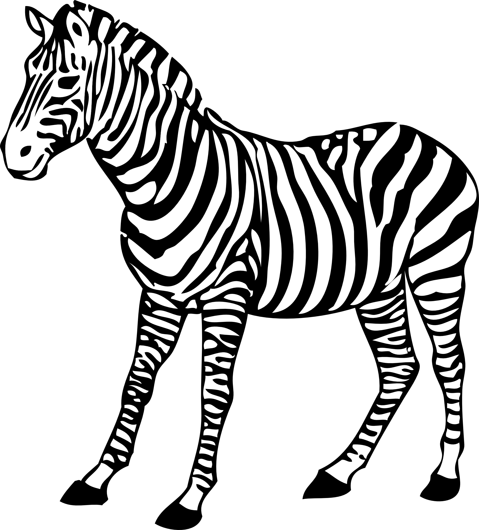 1979x2188 Zebra Coloring Pages