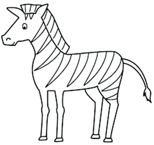 600x564 Zebra Coloring Sheet Zebra Coloring Pages For Toddler A Zebra