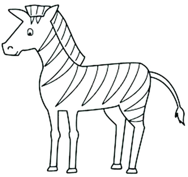 600x564 Cute Zebra Coloring Pages Cute Zebra Animal Coloring Pages