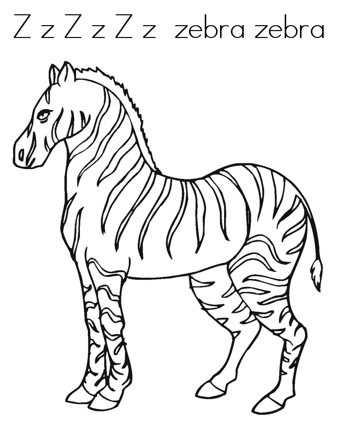 685x886 Free Printable Zebra Coloring Pages For Kids