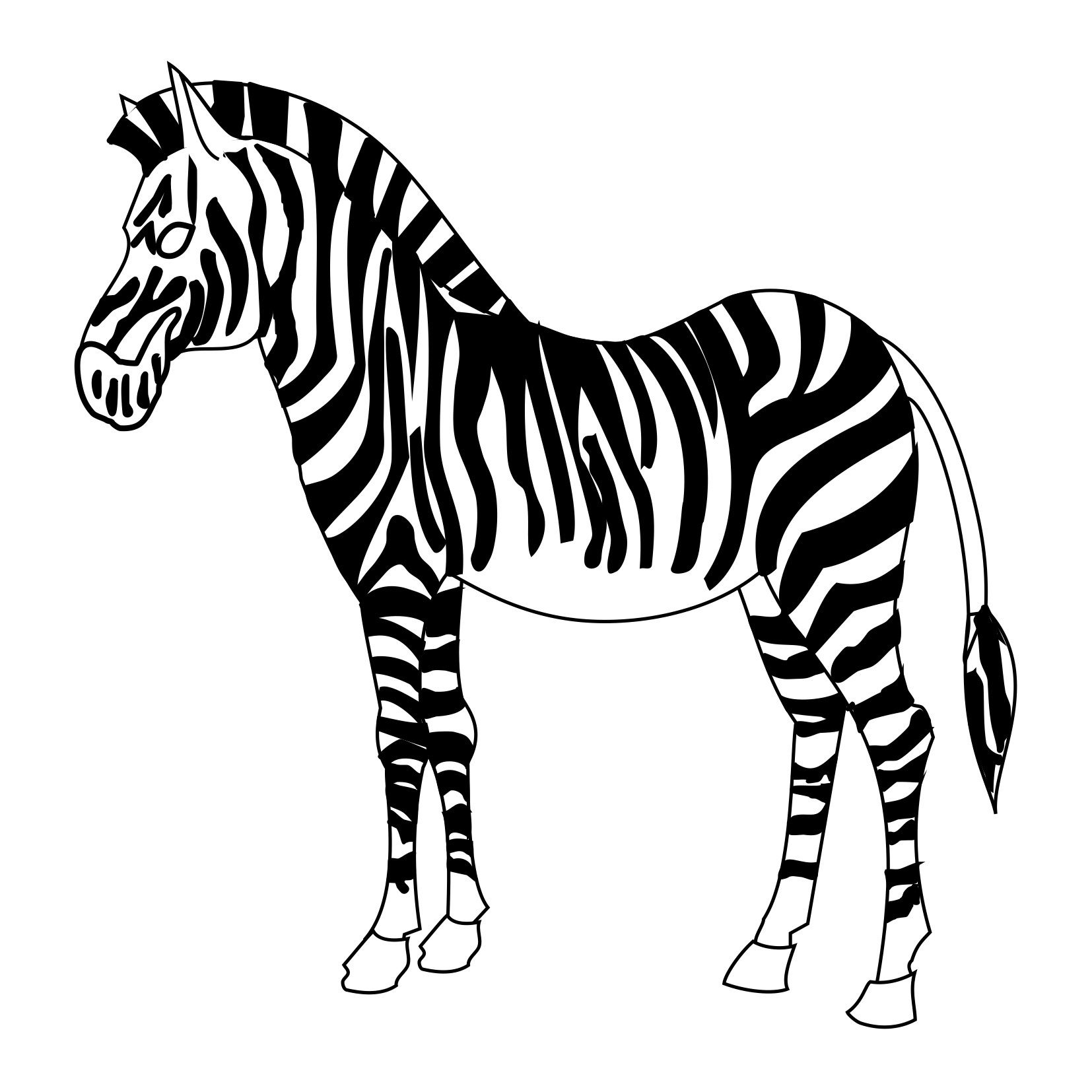 1654x1654 Best Printable Zebra Coloring Pages Me For Trend And Styles