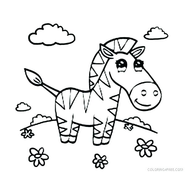 600x564 Cute Baby Zebra Coloring Pages Color Page Sheets For Kids