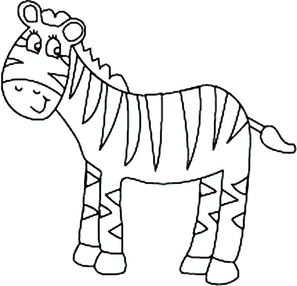 600x578 Coloring Pages Of Zebras Zebra Coloring Page Free Printable