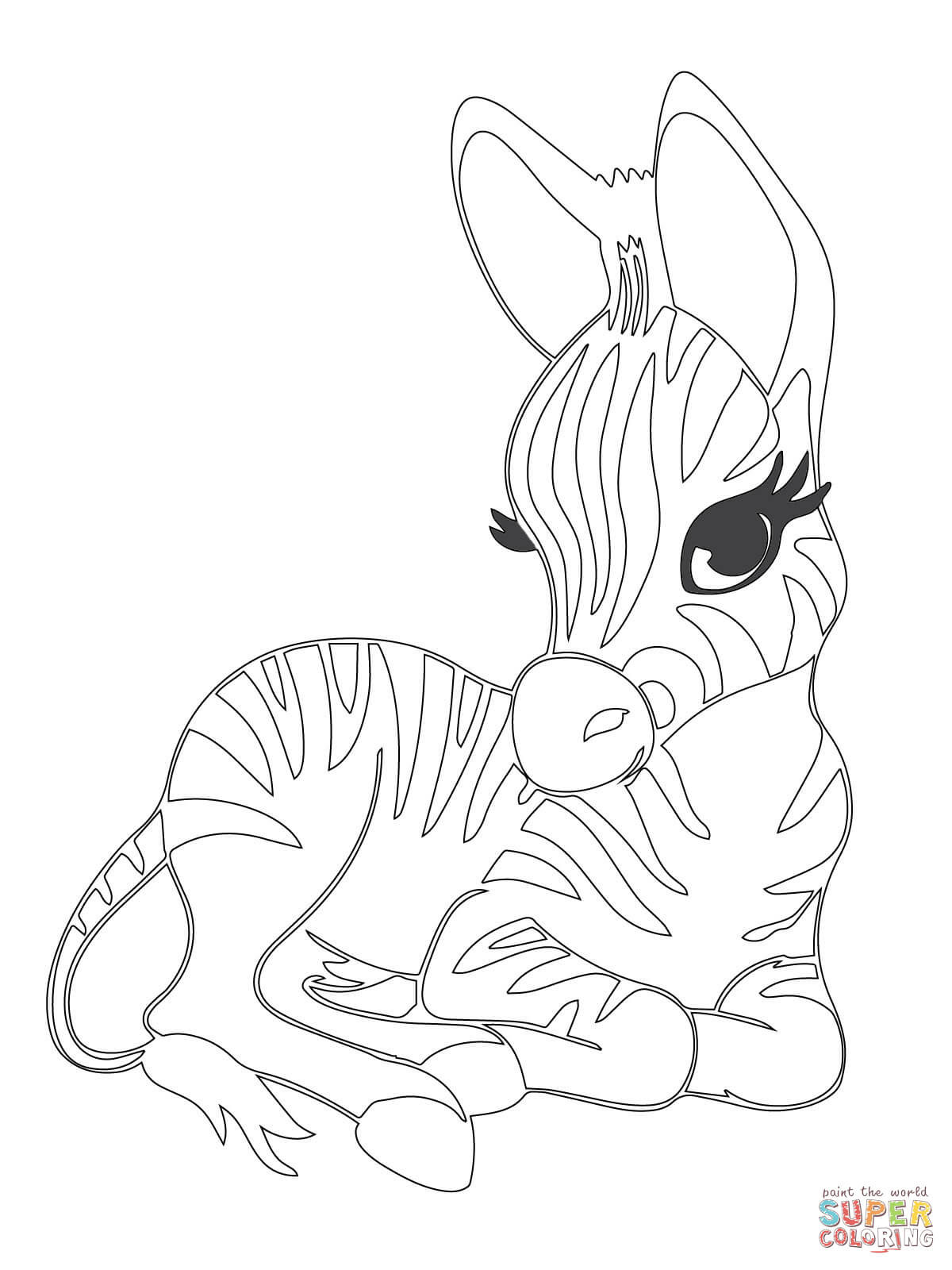 1200x1600 Cute Baby Zebra Coloring Page Free Printable Pages Remarkable Acpra