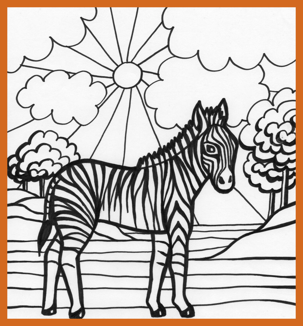 1050x1130 Marvelous Cute Baby Zebra Coloring Page Clipart Picture