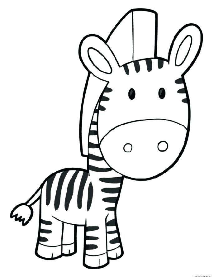 687x889 Zebra Coloring Page Printable Zebra Pictures Medium Size