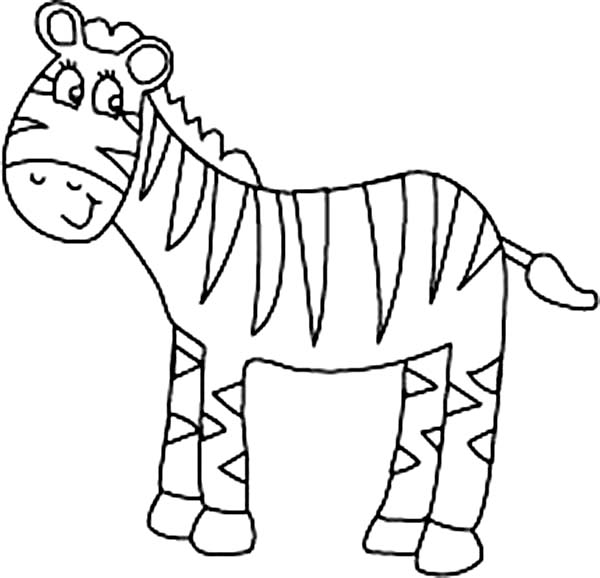 600x578 Zebra Coloring Page Zebra Coloring Pages For Preschooler