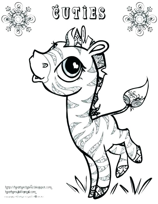 618x800 Zebra Coloring Pages