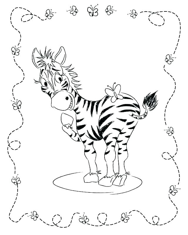 640x800 Coloring Pages Zebra Baby Zebra Coloring Pages For Kids Printable