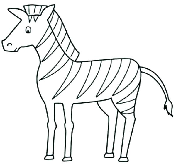 600x564 Coloring Pages Zebra Zebra Coloring Pages Images Wild Animals