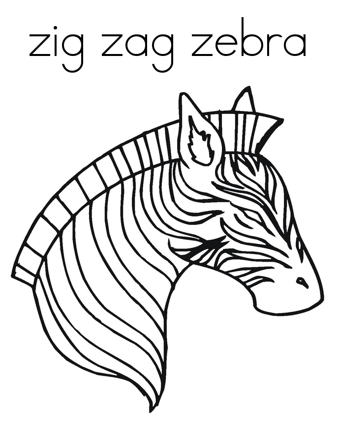 685x886 Free Printable Zebra Coloring Pages For Kids Zebra Face