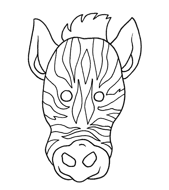 Zebra Head Coloring Pages