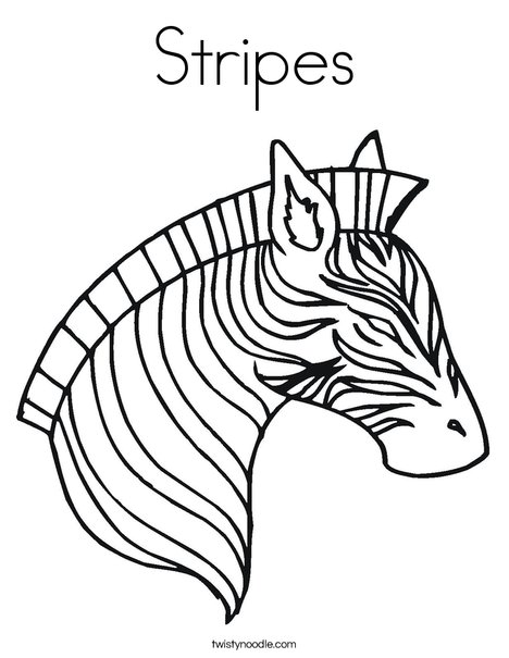 468x605 Stripes Coloring Page