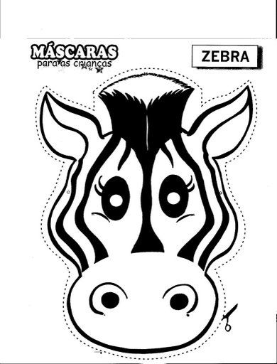 390x512 Zebra Mask Free Coloring Pages Girl Scout Daisies Cheers