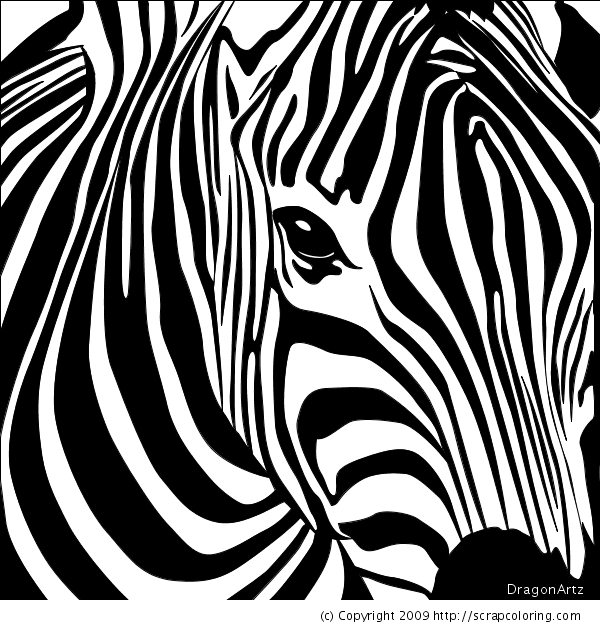 600x630 Zebra Head Coloring Page Coloring Pages Mosaics