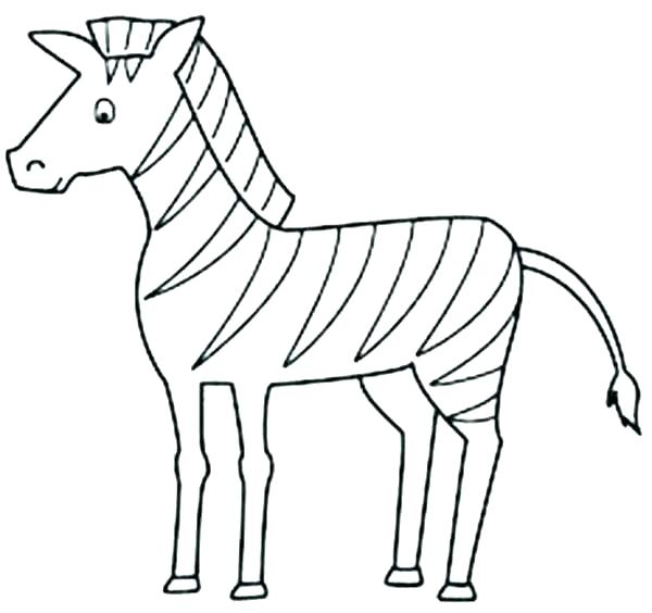 600x564 Zebra Coloring Pages