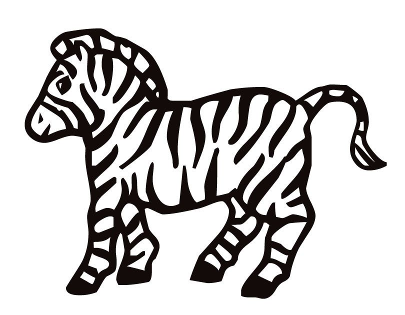 810x630 Zebra Print Coloring Pages