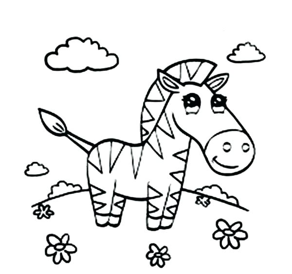 600x564 Coloring Pages To Print And Coloring Page Cartoon Zebra Free