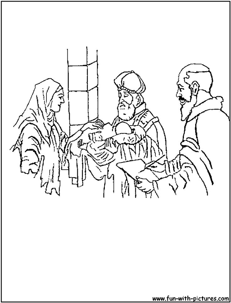 Zechariah And Elizabeth Coloring Page