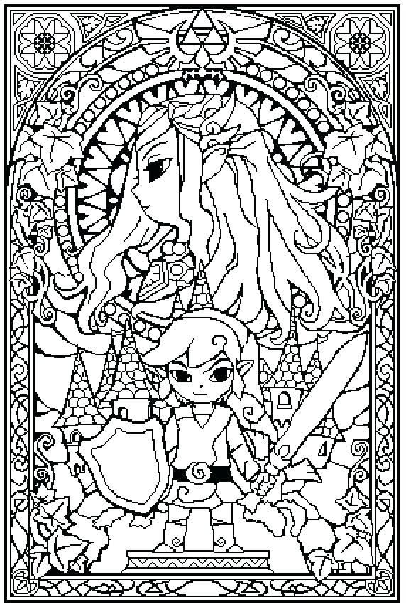 572x854 Legend Of Zelda Coloring Pages Coloring Pages Legend Coloring