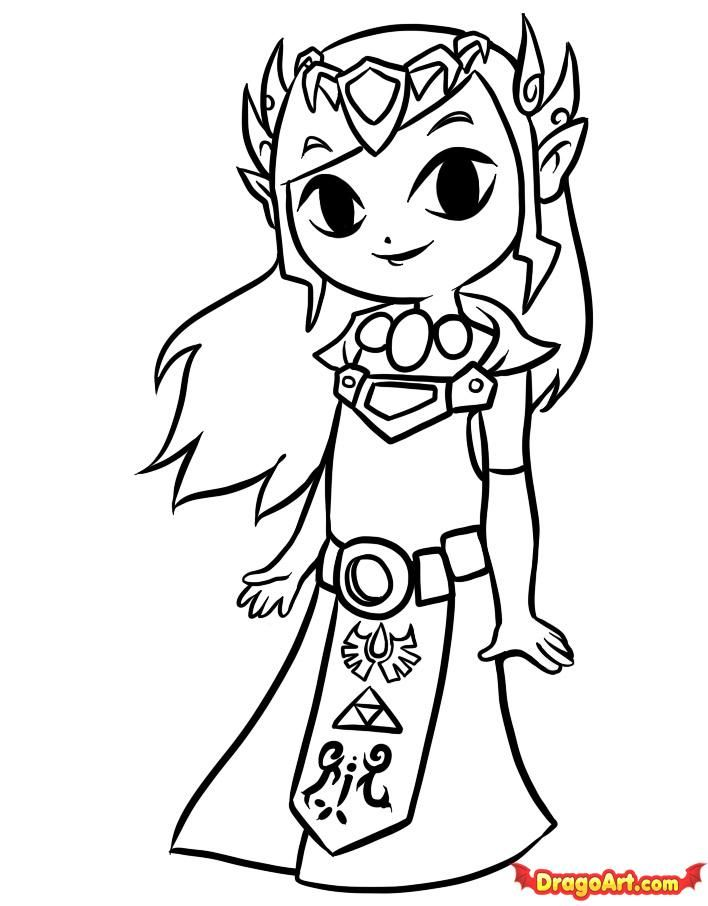 708x906 Best Zelda Coloring Pages Images On Adult Coloring