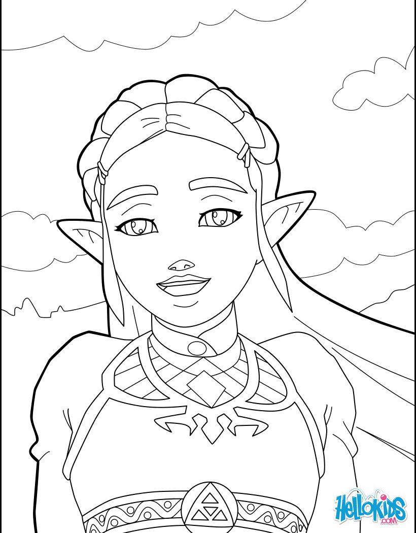 820x1050 Logo Zelda Coloring Pages Free Printable Cartoons Princess Wind