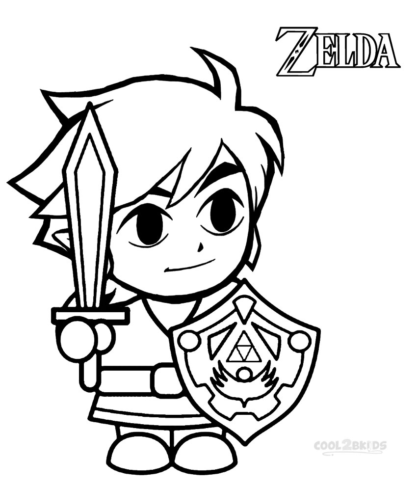850x992 Printable Zelda Coloring Pages For Kids
