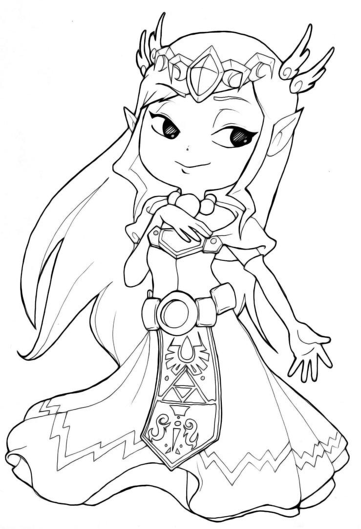 739x1081 Zelda Coloring Pages