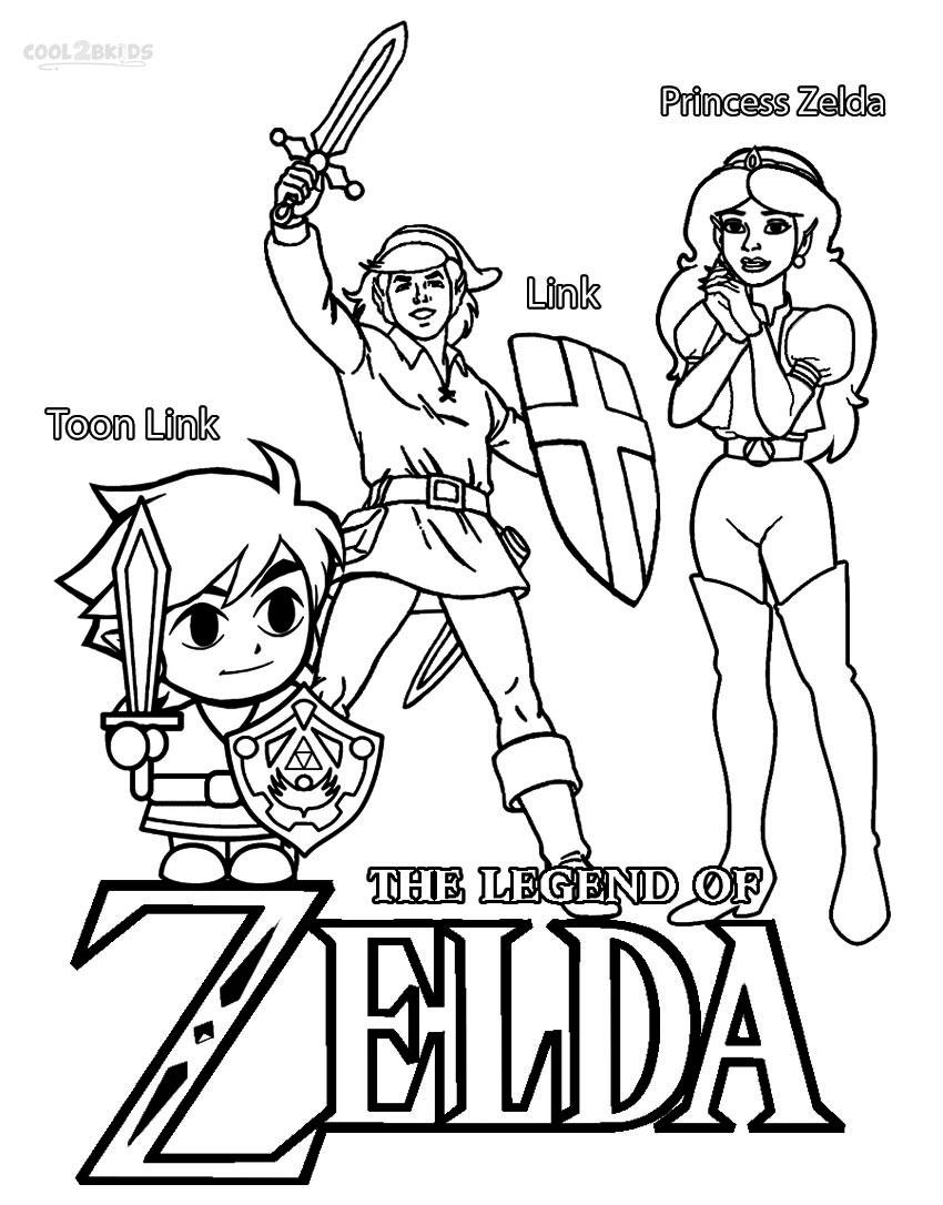 850x1086 Printable Zelda Coloring Pages For Kids Zelda Coloring