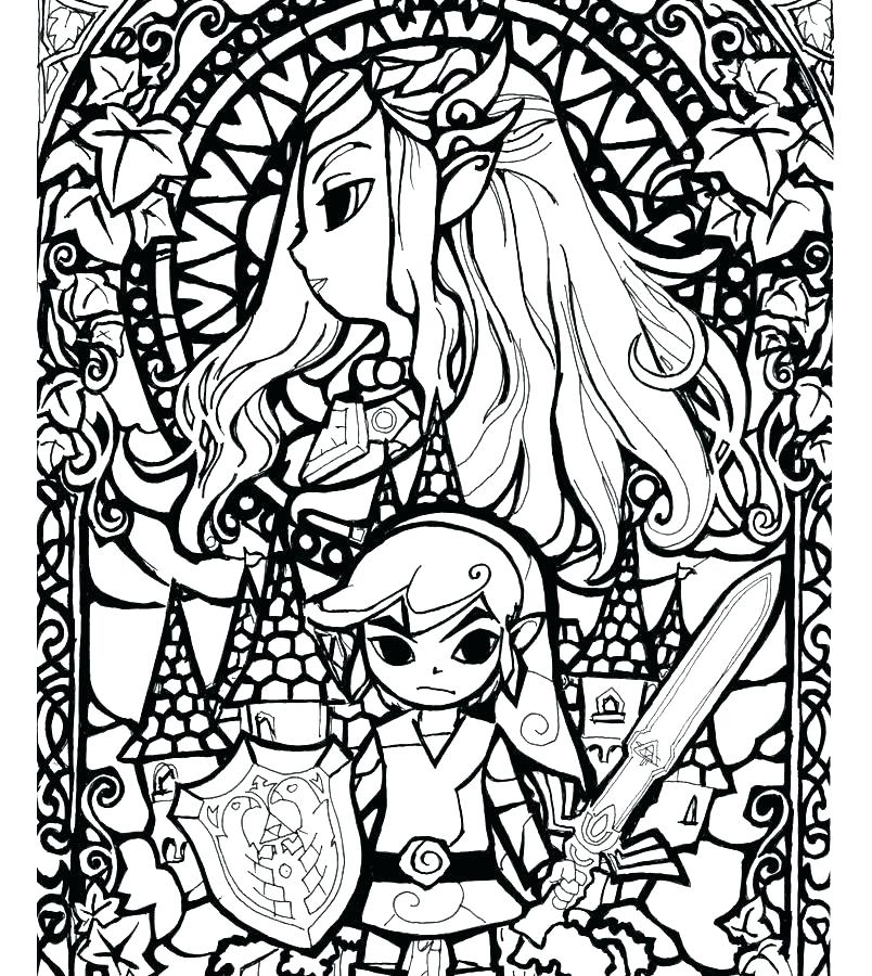 804x900 Zelda Coloring Pages