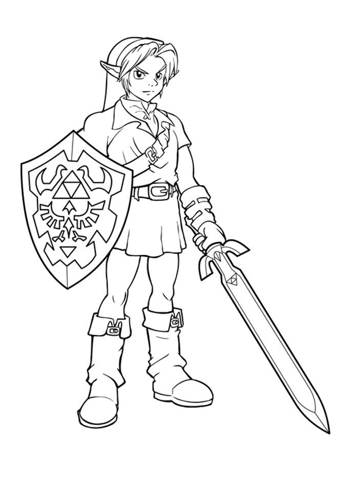 691x960 Free Printable Zelda Coloring Pages For Kids Free Printable