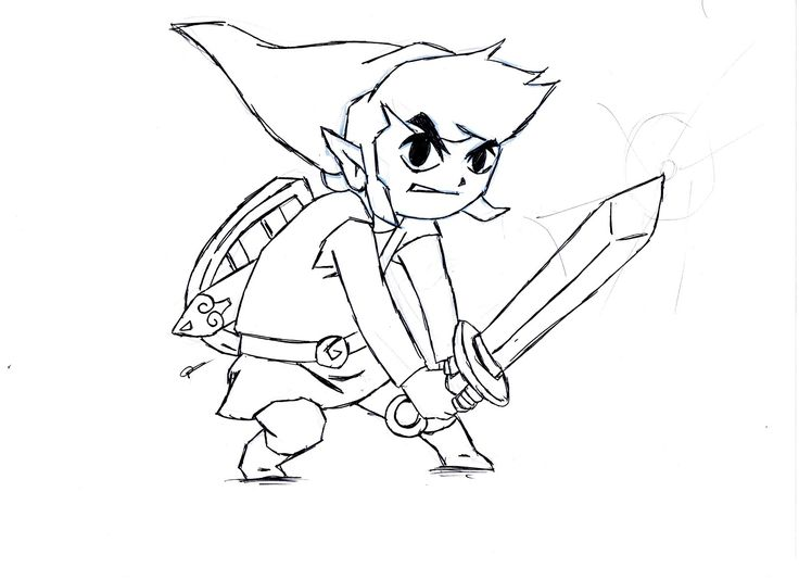 Zelda Link Coloring Pages
