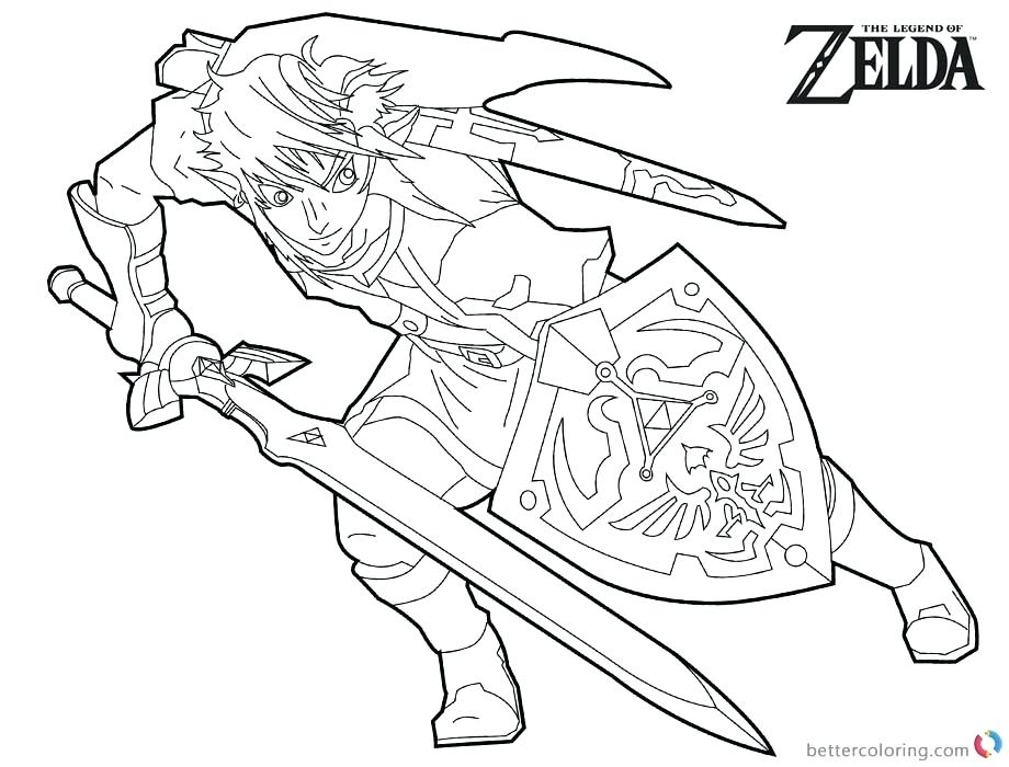 Zelda Link Coloring Pages At Getdrawingscom Free For Personal Use